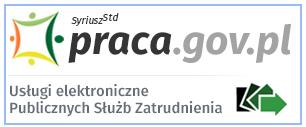 Obrazek z logiem portalu praca.gov.pl - Usługi elektroniczne Publicznych Służb Zatrudnienia
